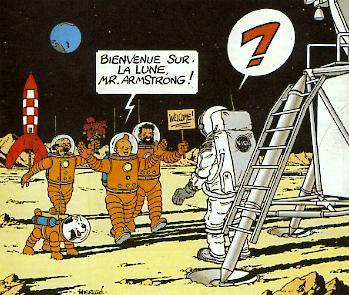 Dessin envoyé à Armstrong en 1969