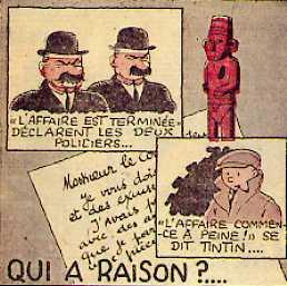 """Enigmes posées par Hergé dans """"Le Petit Vingtième"""""""