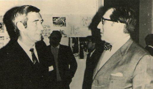 Hergé et Edgar P. Jacobs Vers 1956